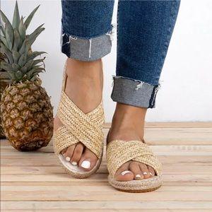 Shoes - Flat Espadrille Sandals